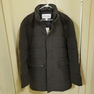 Calvin Klein wool blend puffer jacket